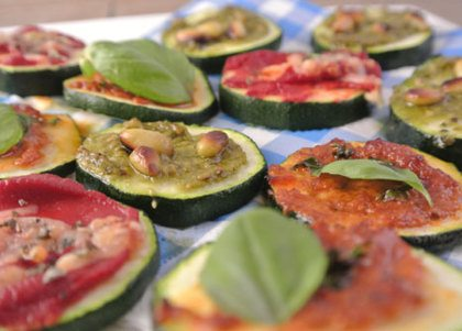 Recept voor: mini courgettepizza's
