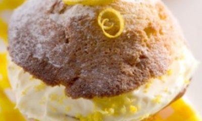 Lekker fris en zoet door de citroen, mooie traktatie tijdens een High Tea.