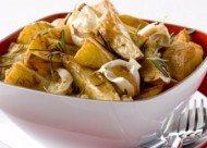 Recept voor geroosterde aardappels met gepofte knoflook