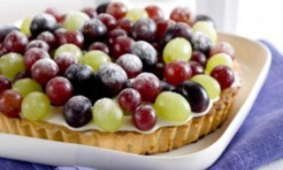 Recept voor kwarktaart met druiven