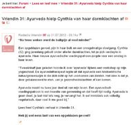 Ayurveda hielp Cynthia van haar darmklachten af