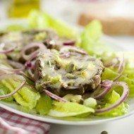 Recept voor salade met portobello, brie en pompoenpitten