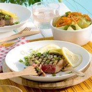 Recept voor oosterse tonijn met bosuitjes