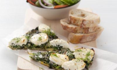 Recept voor frittata met spinazie, dille en geitenkaas
