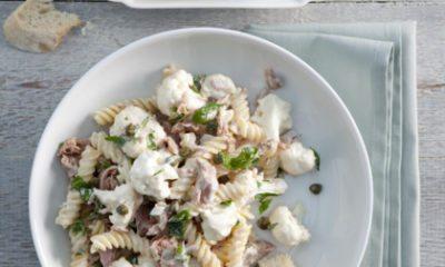 Recept voor pastasalade met tonijn en bloemkool