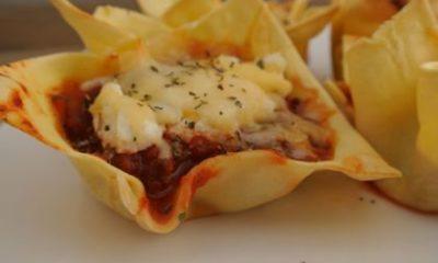 Recept voor mini-lasagnehapjes