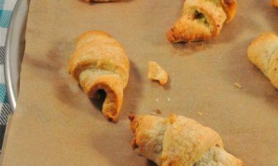Recept voor mini-croissantjes met spinazie en feta