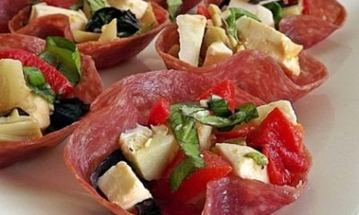 Recept voor gevulde salamibakjes