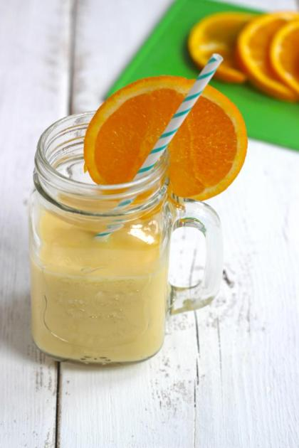 Recept voor sinaasappel milkshake