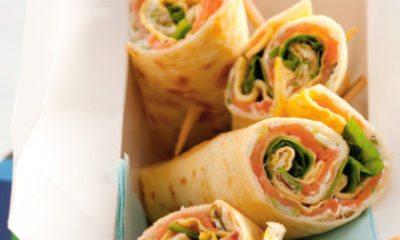 Recept voor wraps met omelet en gerookte zalm
