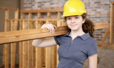Vrouw in de bouw