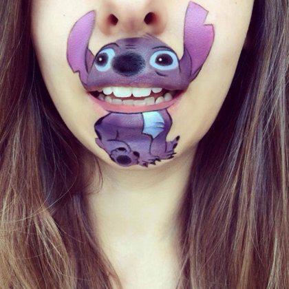 Stripfiguren als make-up