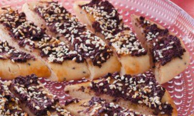 Recept voor brood met olijven en sesamzaad