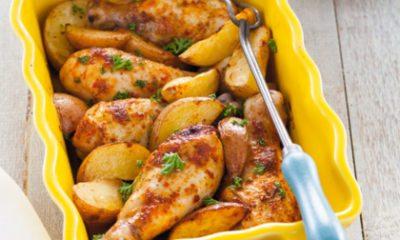 Recept voor drumsticks piri piri met ovenaardappeltjes en coleslaw