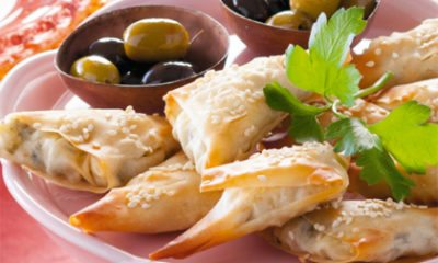 Recept voor filodeeghapjes met courgette en geitenkaas
