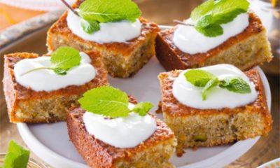 Recept voor pistachecake met honing-yoghurtglazuur