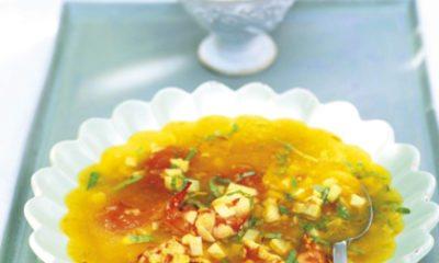 Recept voor soep met gamba's en artisjokken