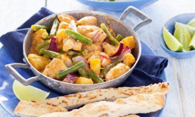 Recept voor curry van koolvis, aardappel en sperziebonen