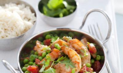 Recept voor garnalencurry met tomaat