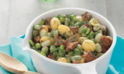 Recept voor kalfsvlees met tuinbonen, krieltjes en dille