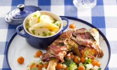 Recept voor kippenbout met Zeeuws spek en retrogroentjes