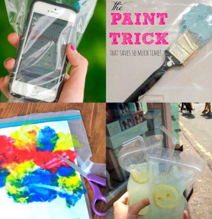 4 hacks met plastic zakjes