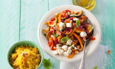 Recept voor Ratatouille met couscous en amandelen