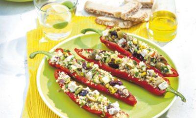 Recept voor gevulde paprika met bulgur & feta
