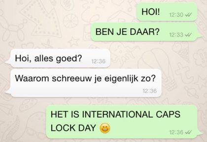 HET IS INTERNATIONAL CAPS LOCK DAY