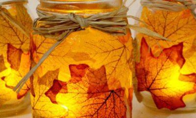 Zelf maken: herfst waxinelichthouder