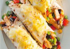 Recept voor Mexicaanse wraps met kip uit de oven