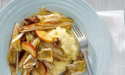 Recept voor witlof met appel & camembert