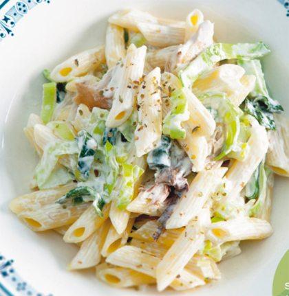 Recept voor romige preipasta met makreel