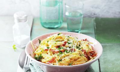 Video: gerechten uit een kommetje: Spaghetti Carbonara