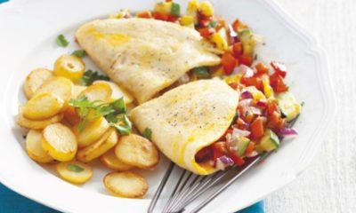 Recept voor gevulde Provençaalse omelet