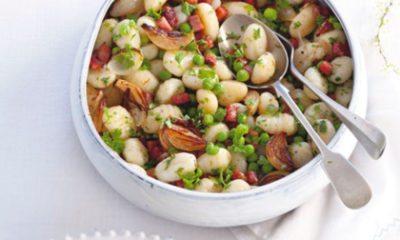 Recept voor gnocchi met ham en doperwtjes