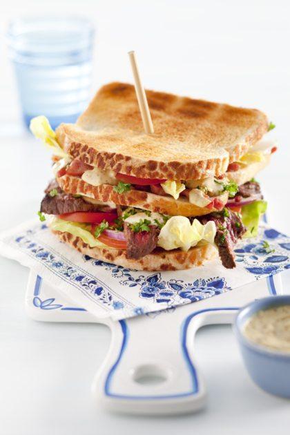 Recept voor Hollandse bief clubsandwich