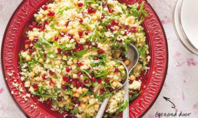 Recept voor couscous met kikkererwten en granaatappelpitjes