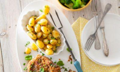 Recept voor krokante, kruidige karbonade met geitenkaas