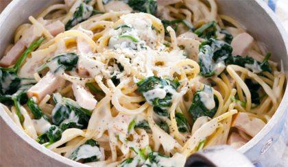 pasta carbonara met kip