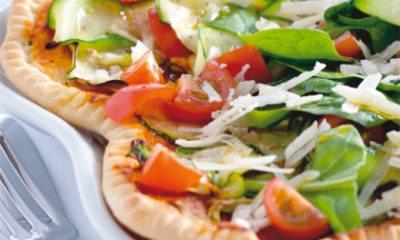 Recept voor pizza met courgette en spinazie