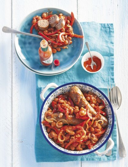Uitzonderlijk Recept voor pittige chili met braadworst &SM39