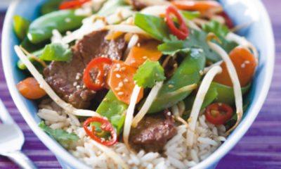 Recept voor gepeperde biefstuk met knapperige groenten