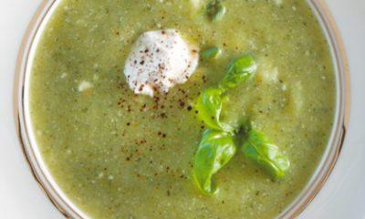 Recept voor courgette-ricottasoep met basilicum