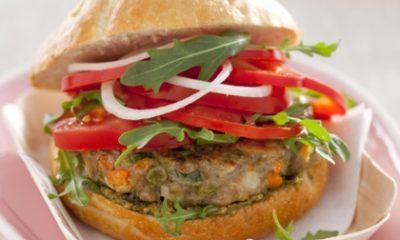 Recept voor vega-burger met pesto