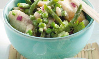 Recept voor Thaise groene viscurry