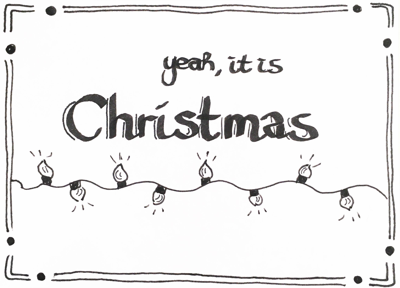 Handlettering Kerstkaarten Maken