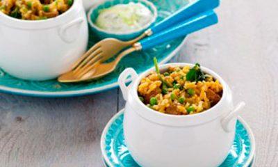 recept voor Indiaas lamsvlees met rijst en spinazie