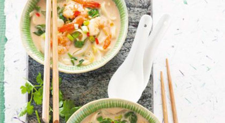Recept voor woksoep met garnalen
