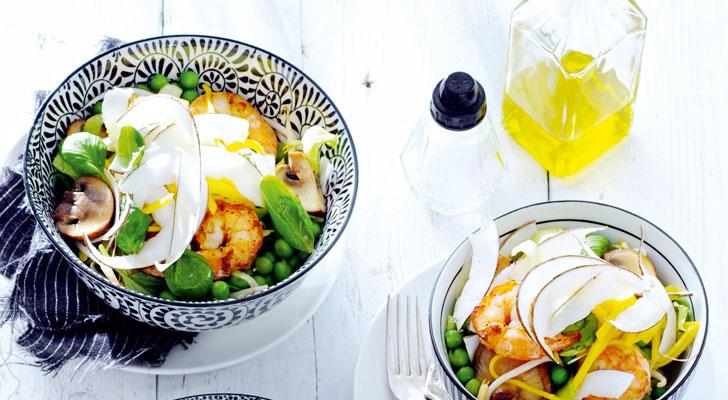 Recept voor mangosalade met verse kokosnoot